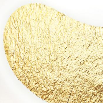 Masque métallisé or pour les yeux